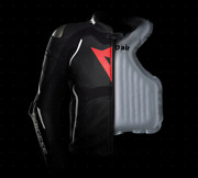 Leather Jacket Racing Dainese Racing 3 D Air Black White Air Bag Airbag