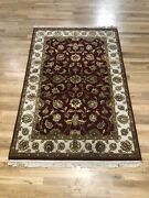 4x6 Agra Rug From India Wool And Silk