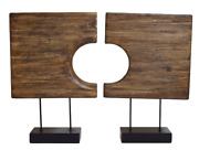 Mid Century Modern Art Carved Wood Sculptures Witco Style