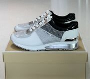 Mk Allie Wrap Trainer Sneakers - White/silver - Sizes