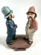 1996 Pinkerton Detective Agency Annual Chalkware Statue Policeman And Sleuth