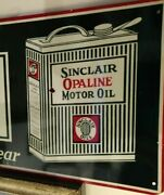 6 X18 Collectible Sinclair Opaline Motor Oil Pre-owned Metal Advertising Sign