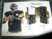 Panini Flawless On Card Autograph Jersey Steelers Ben Roethlisberger 2/5 2016
