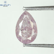 0.53 Ct Pear Shape Natural Loose Diamond Intense Pink Color I2 Clarity F19-35