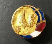 1928 Paris Swedish Olympic Delegation In Athletic French Olympic Camp Badge Pin