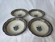 Set Of 4 Tracy Porter The Claret Collection Soup Cereal Bowls 8-1/2andrdquo Poland
