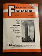 Real Estate Forum May 1961 1960s New York City Nyc Magazine Vintage Ads