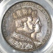 1861-a Pcgs Pr 64 Prussia Thaler Proof German States Coronation Coin 21032501d