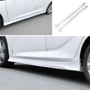 Side Skirts Extension Spoiler Lip Abs White 2pcs Fit For Buick Regal 2017-2020