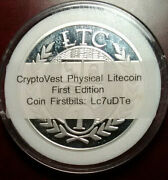 Only 150-rare Unloaded Cryptovest First Edition Physical Ltc/litecoin No Address