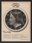 1952 Switchboard Operator In Clock With Headset Awesome Art Bell Telephone Ad