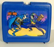 Vintage 1982 Batman And Joker Plastic Lunchbox With Thermos