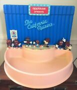 California Raisins Stage Store Display And Sign With 7 Raisin Figures By Applause