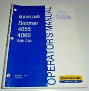 New Holland Boomer 4055 4060 Tractor With Cab Operators Manual 4/08 Nh Original