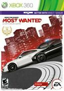 Need For Speed Most Wanted - Microsoft Xbox 360 [ea Limited Edition Racing] New