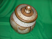 Vintage Studio Crafted Pottery Cookie Jar Coffee Canister Pasta Holder Nice