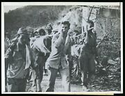 Bataan Death March 1943 Japanese March Us Pow's Wwii Type 1 Original Photo