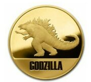 Niue💜1 Oz Gold Proof 250 Godzilla With Gift Tin/a Perfect Gift🌹andnbsp