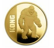Niue💚1 Oz Gold Proof 250 Kong With Gift Tin-a Perfect Gift🌷