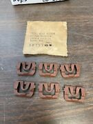 1969 1970 Chevy Impala Rear Back Window Vinyl Top Trim Clips Set Of 6 Nors 421