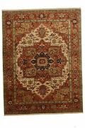 Hand-made 9and0391 X 11and03910 Indo Serapi | Antique Collection Hand-knotted Wool 9x...