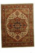 Hand-made 9'1 X 11'10 Indo Serapi | Antique Collection Hand-knotted Wool 9x...