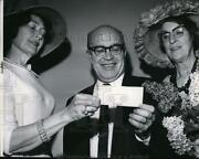 1966 Press Photo Mrs. Grant A. Hopkins, Jack Betts And Polly Mitchell Judd
