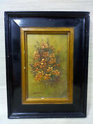 Antiques, Flower Frame Hand-painted, Signed By The Artist Home Decoration