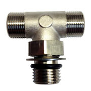 Uflex Boss Style T-fitting - Nickel - Orb 6 To 3/8 Comp 71955t