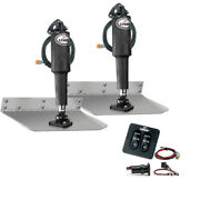 Lenco 9 X 18 Standard Trim Tab Kit W/standard Tactile Switch Kit 12v