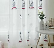 Bedroom Cortinas Living Room Blue Embroidered Pirate Blackout Curtains Drapes