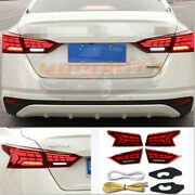 For Nissan Altima 2019 2021 Red Led Rear Tail Taillight Signal Light Turn Signal