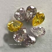 1.29 Ct/7 Pcs Mix Fancy Shape And Pink And Vivid Yellow Color Sku F16-11
