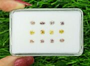 1.69 Ct/12 Pcs Mix Shape And Pink And Brown Color Natural Loose Diamond F16-18