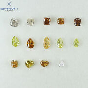 3.47 Ct/3 Pcs Mix Shape And Mix Natural Loose Diamond For Wedding Ring F16-25