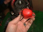 Vintage Part - Red Spark Plug Cover And 1 Screw 1940s - 1950s For Lombard Chainsaw