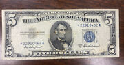 1953-a 5 Five Dollars Silver Certificate Star Replacement Note