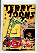 Terry Toons 8 Timely Atlas Comics 1943 Firefighter Cover