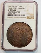 Papal States 1667-69 Italy 1 Pia Dav 4072 Xf Details Moount Removed - Sl160