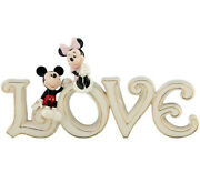 Lenox Disney Mickey And Minnie Mouse True Love Sign Figurine New In Box