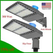 Led Parking Lot Light 300watt Shoebox Pole Lights 36000lm Replaces 800w Hid/hps