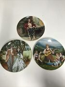 Set Of 3 Plates Sound Of Music - Gone With The Wind And Of Andldquoa Puzzlementandrdquo
