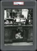 Jfk And Jfk Jr. 1963 My House Oval Office Desk White House Original Photo Iconic