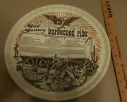 Vintage Wild Western Barbecued Ribs Recipe Decorative Plate Best Ribs In West