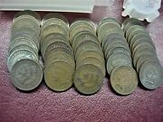 1909 Indian Cents - 50 Pc. - Last Year - Always In Demand - All Nice - No Junk