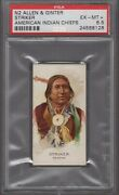 1888 Allen And Ginter Celebrated American Indian Chiefs N2 Striker Graded Psa 6.5