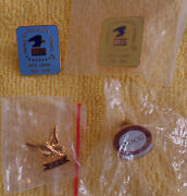 2 Usps Sick Leave Pins -- One Cfc Pin Without Back Clip And One Nbcc Pin