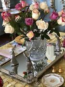 English Victorian Silver Plate Mirrored Plateau – 24 Inch Rectangle