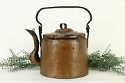 Hand Hammered Copper Antique Dovetailed Farmhouse Large Tea Kettle 37185