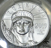 2019 United States 100 Statue Of Liberty 1oz Platinum Pcgs Ms70 Rogers Signed